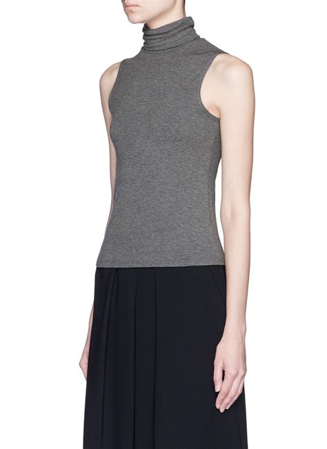 sleeveless knit top theory wendel turtleneck sleeveless knit top in gray lyst