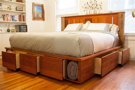 king size bed frame with storage diy king size platform bed storage nortwest woodworking