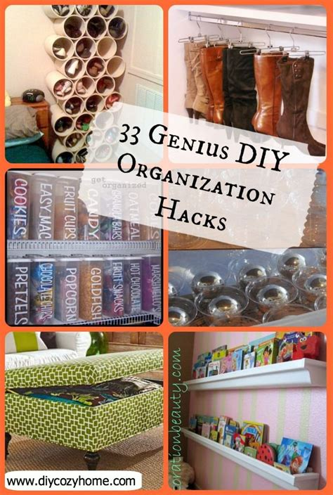 hacks for home organization 33 genius diy organization hacks the idea for cans