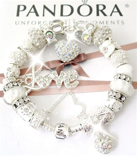 ebay pandora authentic pandora sterling silver bracelet white