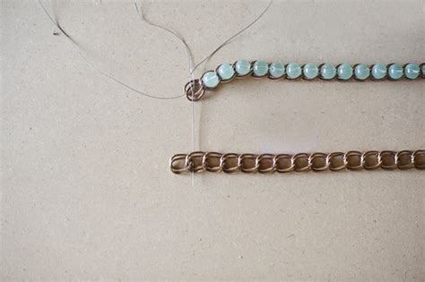 beading chain how to make a pretty unique ombre bead chain bracelet