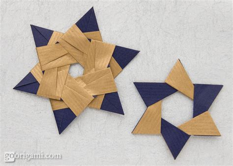 6 pointed origami sided kraft paper frog folia go origami