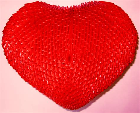 3d hearts origami 3d origami by floorin333 on deviantart