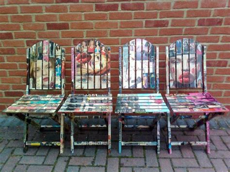 decoupage for outdoors decoupage wooden garden chairs by artdp on etsy 163 400 00