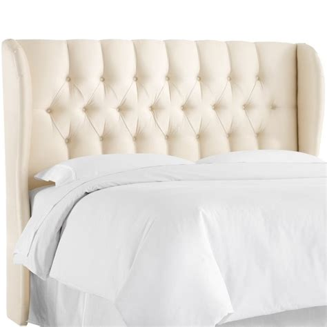 king wingback headboard skyline upholstered tufted wingback king headboard in