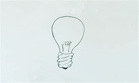 drawing of lights how to draw light bulb