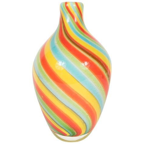 coloured for vases radiant murano vase in multi colored winding striped glass