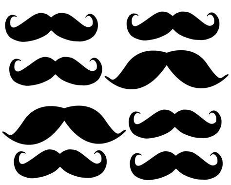 for printable free printable mustaches clipart best