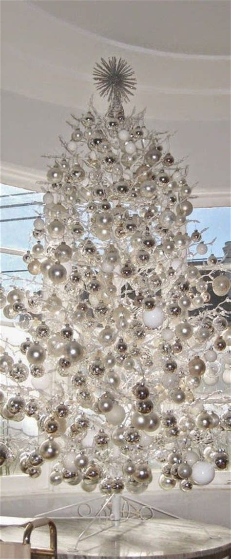 white ornaments for tree 21 silver tree d 233 cor ideas digsdigs