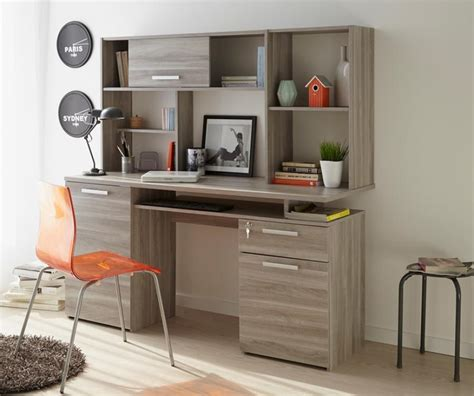 modern study desk perseo modern study desk in silex oak wood effect finish