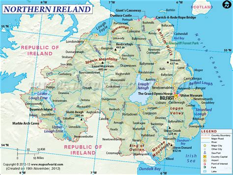 northern ireland northern ireland map the ulster experience