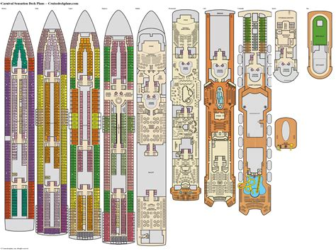 carnival sensation deck plans diagrams pictures