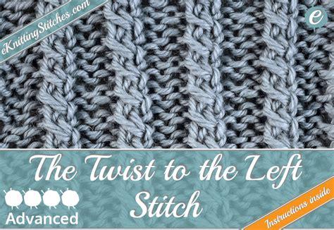 twisted knitting stitches cable twist stitches eknitting stitches