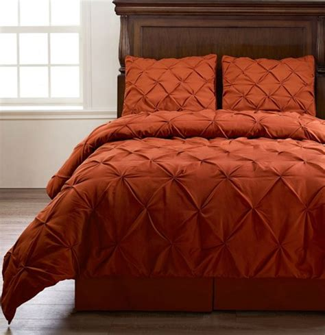 king size orange comforter set emerson burnt orange king size 4pc pinch pleat puckering