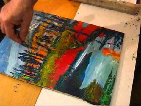 acrylic paint for wood how to paint impressionist nature acrylic on wood