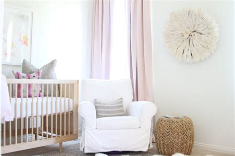 pink curtains nursery pink and gold nursery with pink cotton drapes