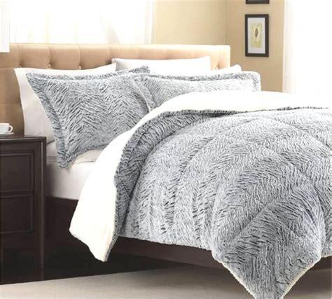 faux fur comforter set silver white faux mink comforter