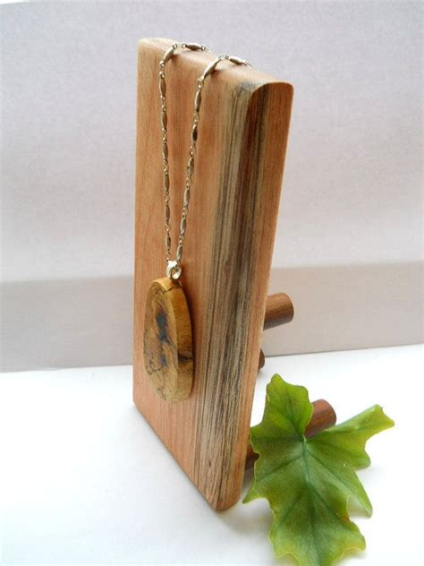 wooden for jewelry small wooden jewelry display stand for necklaces by