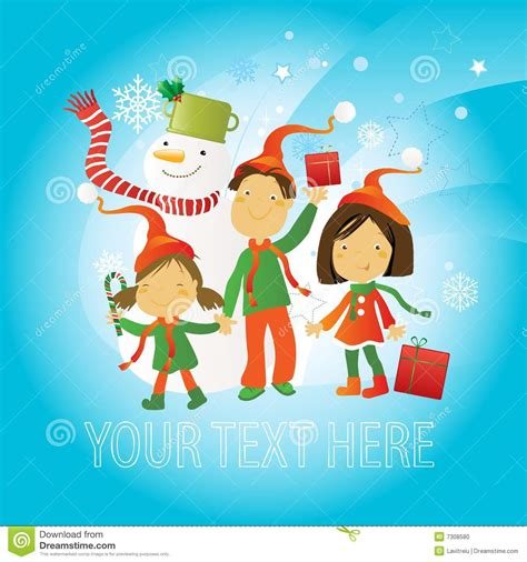 greeting card for children greeting card children stock photo image 7308580
