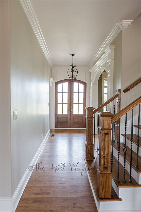 behr paint colors revere pewter foyer with behr sculptor clay and silky white trim revere