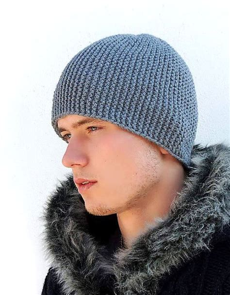 knit hat mens grey warm mens knitted hat winter hat s knit hat