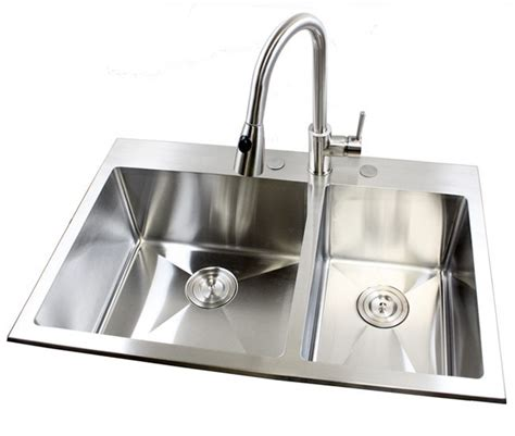 top mounted kitchen sinks 33 inch top mount drop in stainless steel bowl