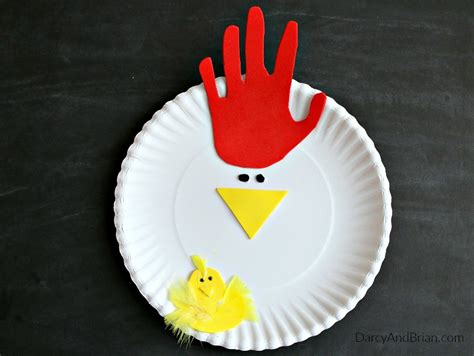 how to make craft with paper plates tracing chicken paper plate craft