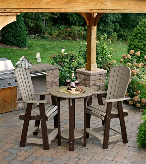 amish table and chairs polywood pub table and chair set from dutchcrafters amish