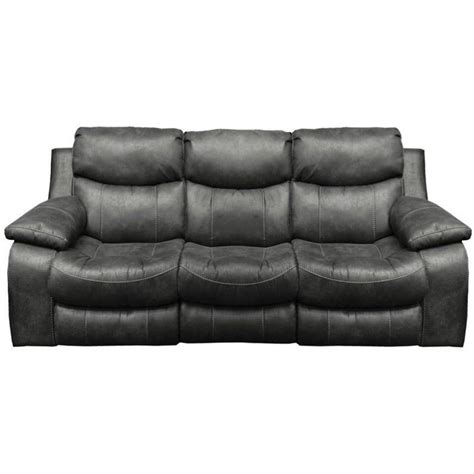catnapper reclining sofas catnapper leather reclining sofa in steel