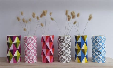 decorative paper crafts geo vases diy paper craft by giggenbach project
