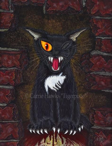 evil cat painting sale black cat evil black cat painting edgar allan poe