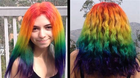 how to color hair how to dye your hair rainbow