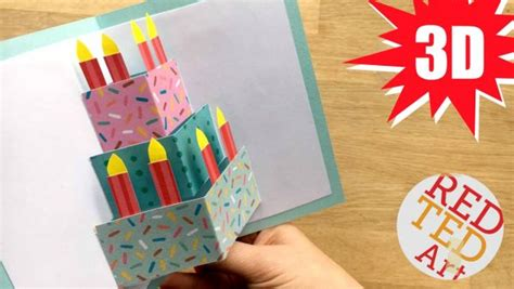 how to make birthday card for easy pop up birthday card diy ted s