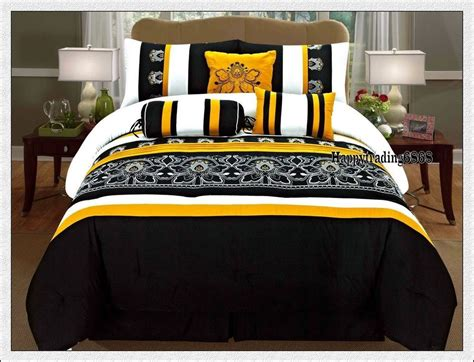 yellow and black comforter sets black white yellow comforter set 28 images bedding