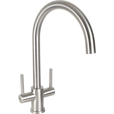 taps for kitchen sinks uk dava stainless steel kitchen sink mixer tap toolstation