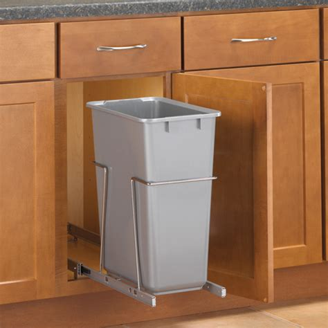 kitchen cabinet garbage can pull out cabinet trash can 30 quart in cabinet trash cans