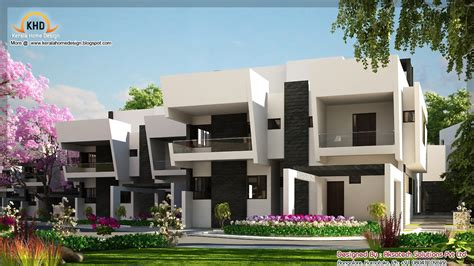 contemporary homes designs 2 beautiful modern contemporary home elevations kerala