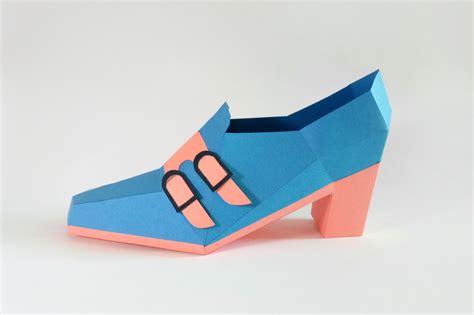 paper craft shoes diy trouser shoe 3d papercraft by paper amaze