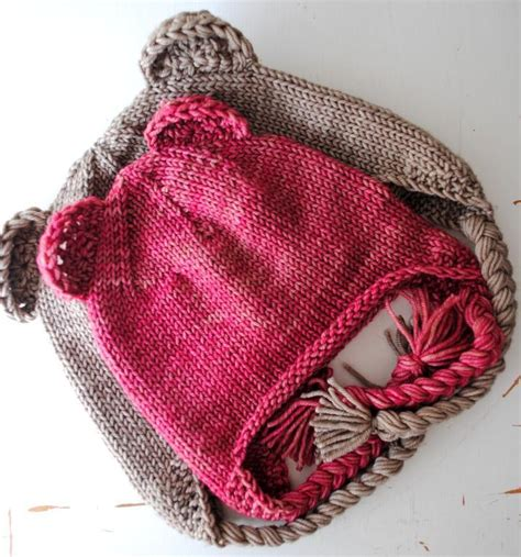 knit hat ear flaps pattern ear flap hat by ashleyld craftsy