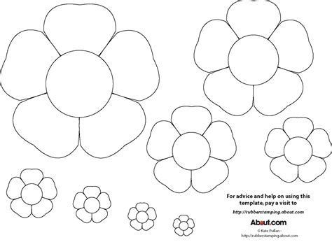 flower paper craft template early play templates flower templates free