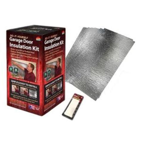 home depot garage door insulation reach barrier air reflective garage door insulation kit