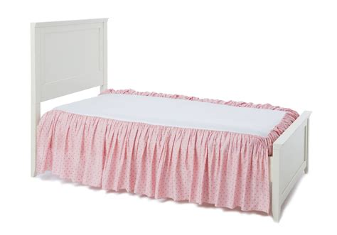bed skirts always enchanting pink gold bed skirt beddy s