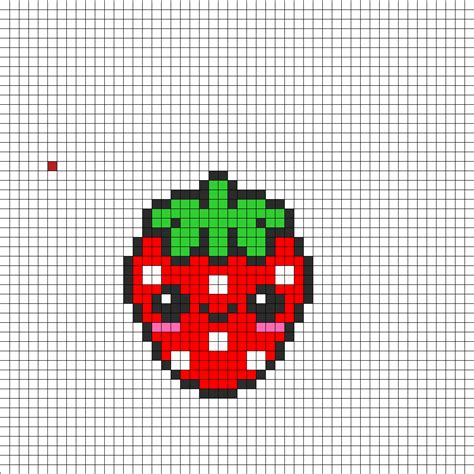 kawaii perler bead patterns kawaii strawbeey perler bead pattern bead sprites food