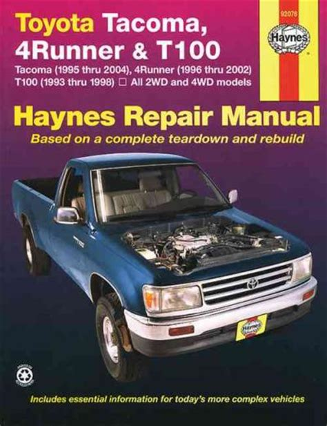 service manual where to buy car manuals 2004 chevrolet classic security system service toyota tacoma 4runner t100 1993 2004 haynes service repair manual workshop car manuals repair