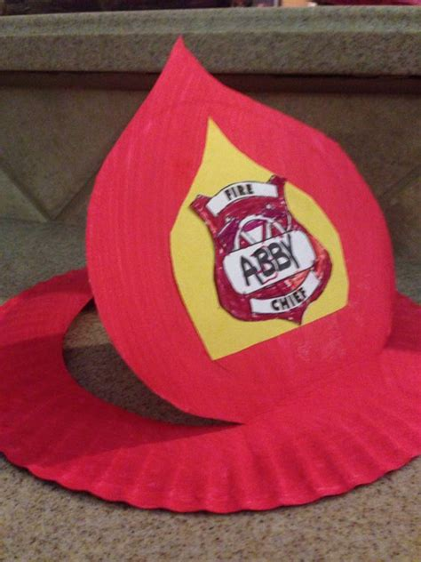 firefighter crafts for fireman hat from paper plate projects i made