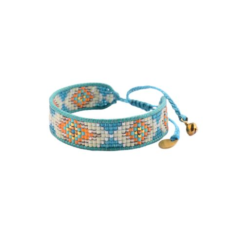 thread and bead bracelets mishky blue woven thread and bead bracelet track le 2819