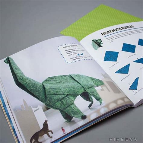 origami dinosaur book the dinosaur origami book lets you build your own jurassic