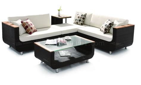 coffee tables for sectional sofas black modern patio sectional sofa w coffee table