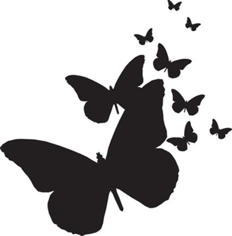 123 stitch rubber sts hton butterflies silhouettes rubber st ps0056