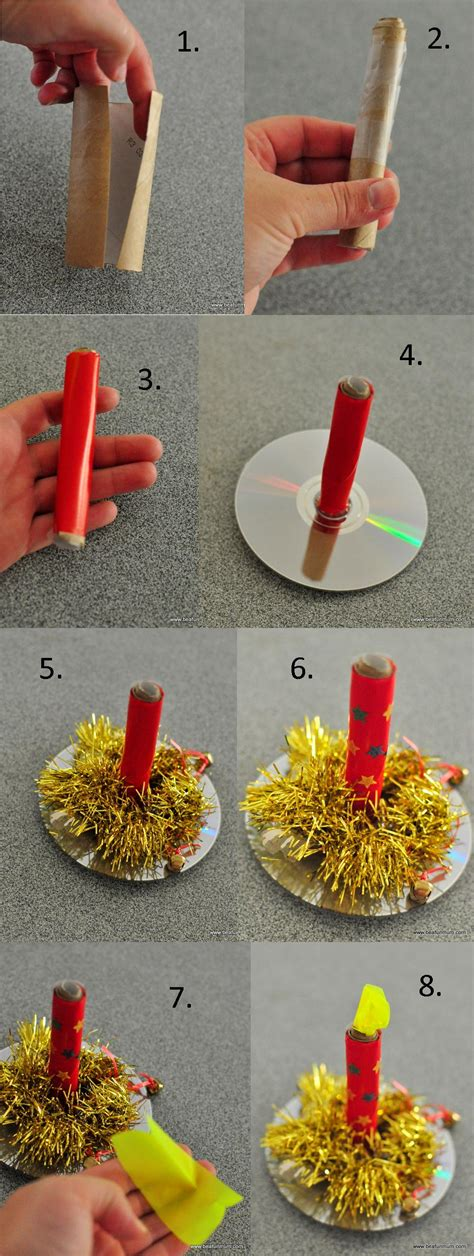 candle craft for paper candle made from toilet paper craft